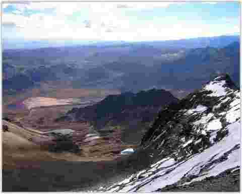 Chacaltaya ski resort Cordillera