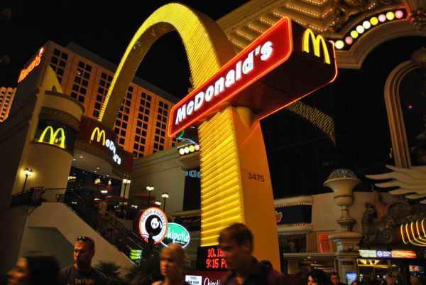 McDonalds в Лас-Вегасе, США.