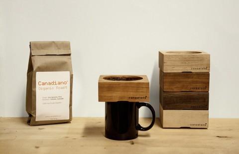Деревянная кофеварка.